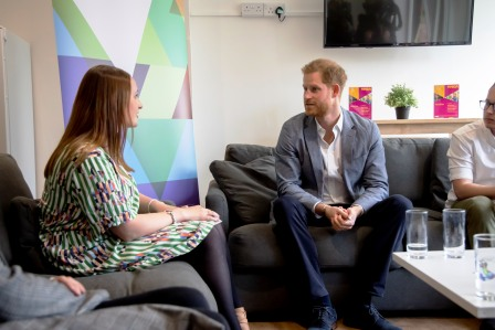 Duke of Sussex hears about YMCA East Surrey's mental health youth
